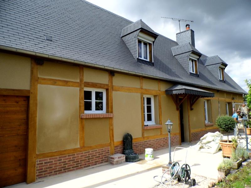 Après travaux de rénovation longère à Gournay-en-Bray, Seine-Maritime
